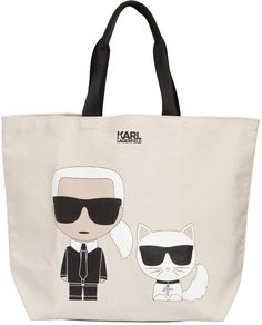 375e93579f KARL LAGERFELD, K/ikonik cotton canvas tote bag, White, Luisaviaroma -  Height: Width: Depth: .