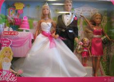 Barbie I Can Be A Bride Set With Ken Groom Stacie And Kelly Dolls Http