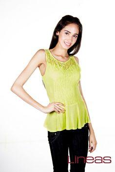 Blusa. Modelo 17677. Precio $140 MXN #Lineas #outfit #moda #tendencias #2014 #ropa #prendas #estilo#outfit #moda #primavera #blusa