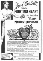 Harley-Davidson with Jim Corbett 1933 Ad Picture