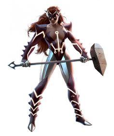 Skirn: Breaker of Men (Titania) by Marko Djurdjevic Marvel Comic Universe, Comics Universe, Marvel Dc, Marvel Comics, Character Modeling, Comic Character, Character Design, Fear Itself Marvel, Avatar