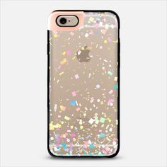 Pastel Confetti Explosion Transparent iPhone 6 Metaluxe Case by Organic Saturation | Casetify Get $10 off using code: 53ZPEA