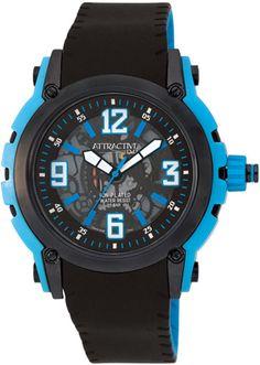 Zegarek męski QQ Attractive DA44-525 - sklep internetowy www.zegarek.net See Through, Casio Watch, Fashion Watches, Chronograph, Skeleton, Watches For Men, Plating, Turquoise, Boutique