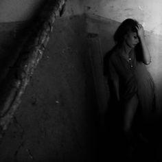 #transformation #girl #dark #blackandwhite #photography #andreialexandru.ddt.ro #stairs #oldbuilding