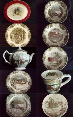 johnson brothers england china antique | Johnson Brothers Friendly Village China & ... | Antique & Vintage D...