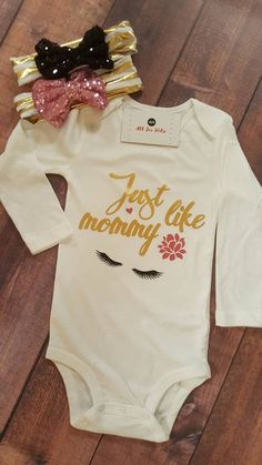 Baby Girl Clothes Just Like Mommy Bodysuit