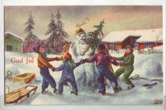 God Jul- (dans rundt snømann) brukt -46.