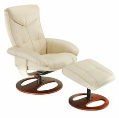 * Soft Touch Vanilla Swivel Recliner and Slanted Ottoman - $259.95