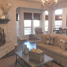 Great Open Room Love The Chandelier Overall Style And Austin Stone