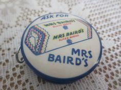 Mrs Baird's - Celluloid Tape Measure