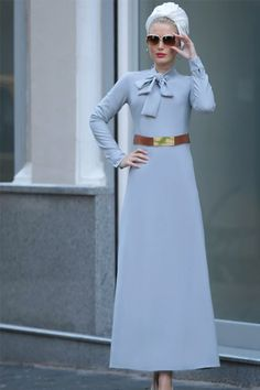 Modest Fashion, Hijab Fashion, Turban Style, European Fashion, The Dress, New Look, High Waisted Skirt, Satin, Womens Fashion