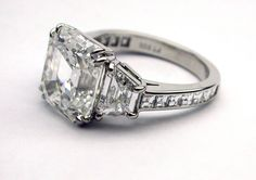 Asscher Cut Diamond Art Deco engagement ring…Can't get enough..this ring is perfect