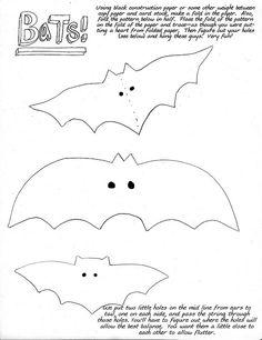 Martha Stewart Halloween Bats Template  Halloween