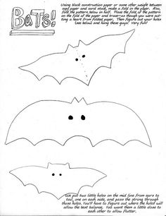 bat templates morcego