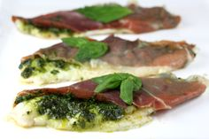 Baked Fish with Pesto and Prosciutto