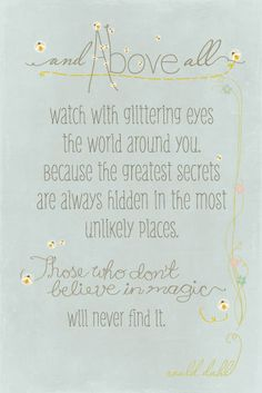 Fireflies Roald Dahl quote by BusyNothings on Etsy, $35.00