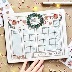 "Bullet Journal Inspo Daily on Instagram: ""Christmas is such a magical time. All the lights and rich colours really get me excited. So it's no surprise this monthly by…"""