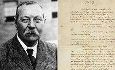 Subastarán en Nueva York manuscritos de Arthur Conan Doyle
