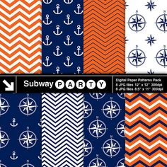 Hey, I found this really awesome Etsy listing at https://www.etsy.com/pt/listing/168970772/nautical-orange-navy-blue-and-white