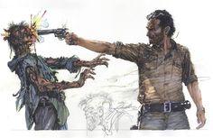 The Walking Dead - Rick Grimes by Neal Adams *