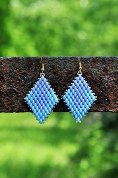 Cukorpalantak / Rhombus - modré náušnice