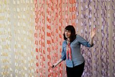 Paper chain backdrop made by Sarai & Co at Colette Patterns