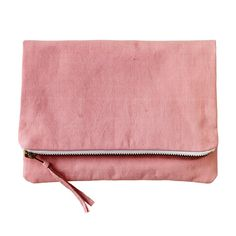 Naturally Dyed Organic Cotton Clutch - Pink on Etsy, 43,48€