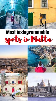 Most Instagrammable places in Malta. Instagram Guide to Malta. Gozo, Popeye Village, Blue Lagoon Malta Backpacking Europe, Europe Travel Guide, Travel Guides, Budget Travel, Europe Destinations, Places In Europe, Places To Travel, Holiday Destinations, Travel Pictures