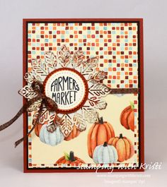 Stampin' Up! Wood Words & Painted Autumn DSP Happy Inkin' Thursday Blog Hop