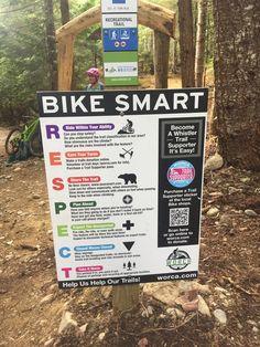 Whistler BC, Bike Smart Trail Signs, Whistler, Bike, Bicycle, Bicycles