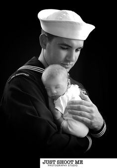 Newborn Photography - Need a pic like this w/ husband (in his uniform) & baby