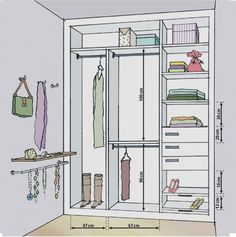 43 Ideas Walk In Closet Makeover Wardrobes Wardrobe Design Bedroom, Wardrobe Closet, Closet Bedroom, Custom Closet Design, Closet Designs, Closets Pequenos, Wardrobe Dimensions, Clothes Cabinet, Armoire