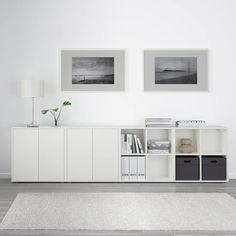 Cube Storage Unit, Ikea Storage, Storage Spaces, Ikea Living Room Storage, Storage Organizers, Storage Benches, Ikea Eket, Ikea Hack, Hallway Storage