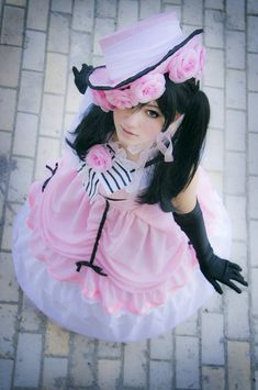 The feminine Ciel Phantomhive from 黒執事. There was a valid reason for his cross-dressing...