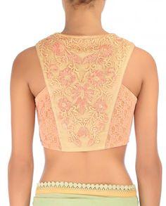 Jade Mughal Resham Saree with Embroidered Blouse - Tarun Tahiliani - Designers