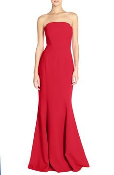 Jill Jill Stuart Notched Strapless Gown available at #Nordstrom