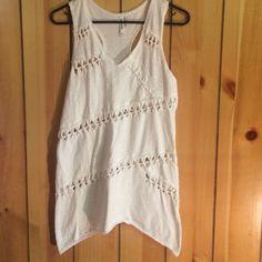 Swim suit cover White swim suit cover. Tied design wraps around front and back. Mur Mur Swim Coverups