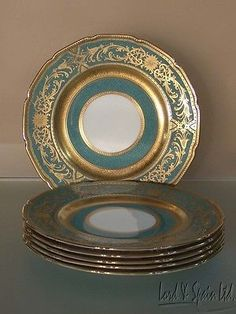 white china with gold encrusted band - Google Search
