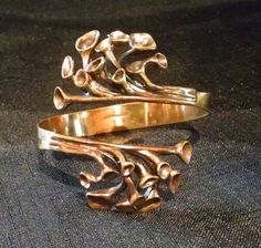Vintage HANNU IKONEN Finland Valo Koru Modernist Bronze Reindeer Moss Bracelet #HANNUIKONENforValoKoru