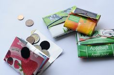 Een portefeuille maken uit een drankkarton.