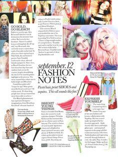 Alex Brownsell & Sam Teasdale In Elle September (Bleach London)