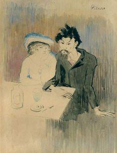 Pablo Picasso (1881-1973) - L'Absinthe, Le poète Cornuty. Paris, hiver, 1902-1903
