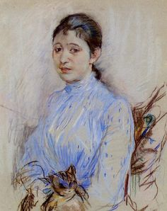 1889 - Young Woman in a Blue Blouse - Berthe Morisot