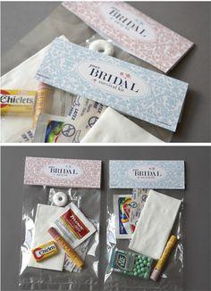 Bridal party survival kits. Gotta show the love!