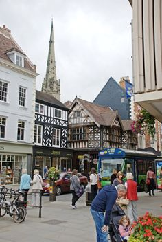 The town of Shrewsbury, Shropshire, England...♥♥...