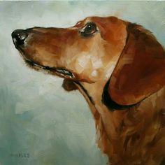''Dachshund'' by Michael Naples Arte Dachshund, Dachshund Love, Daschund, Dog Illustration, Illustrations, Street Art, Watercolor Animals, Dog Portraits, Animal Paintings