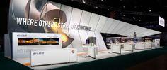 Mitsubishi trade show exhibit designed by Catalyst Exhibits