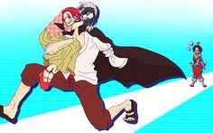 One Piece Shanks and makino