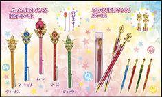 Sailor Moon Pen con diversos cetros y sticks ^^  Precio/unidad: 1500 yenes.   PIDELO EN TODOKE:http://todoke.jp.net/order.html