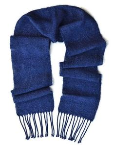 Navy blue wool and mohair soft winter party scarf with silver sparkle by Pretty Warm Designs